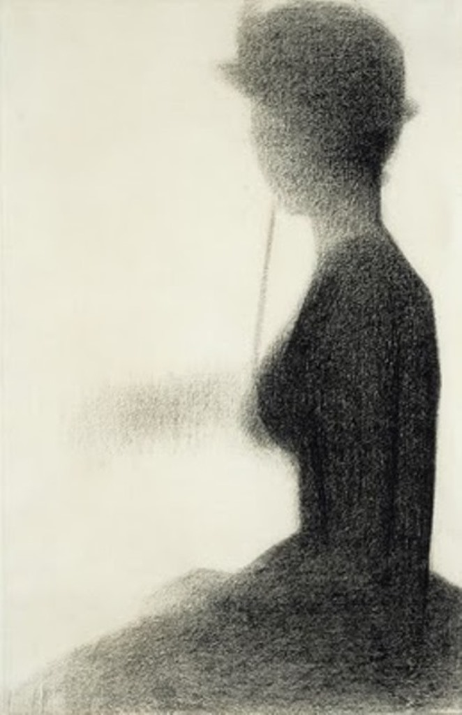 Georges Seurat. Seated woman with a parasol  1884