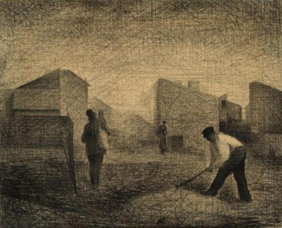 Georges Seurat. Stone breakers 1881