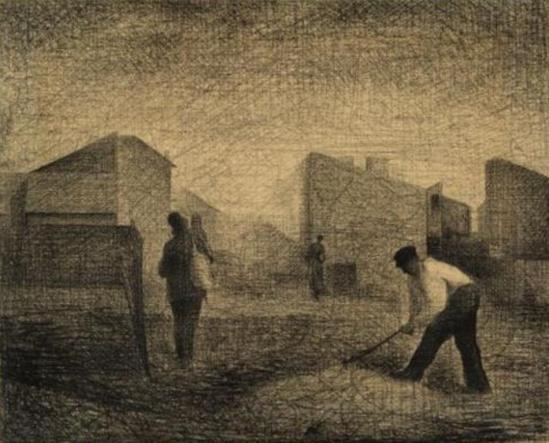 Georges Seurat. Stone breakers 1881
