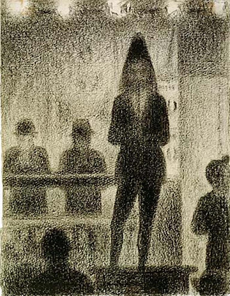 Georges Seurat. Trombone player 1887