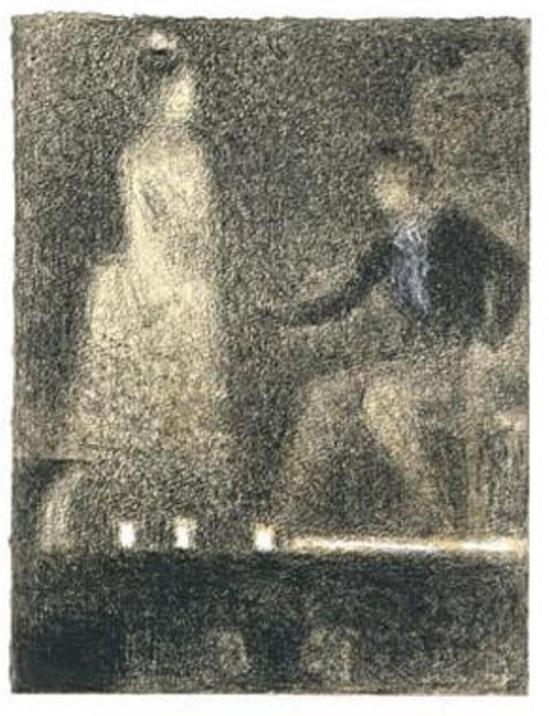 Georges Seurat1 (1859-1891). Scène au théâtre