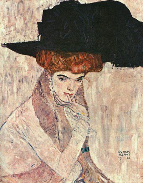 Gustav Klimt. Le Chapeau de plume noir 1910