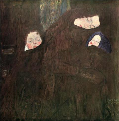 Gustav Klimt. Mother with children 1910