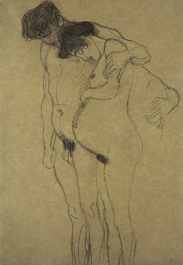 Gustav Klimt. Pregnant woman and man