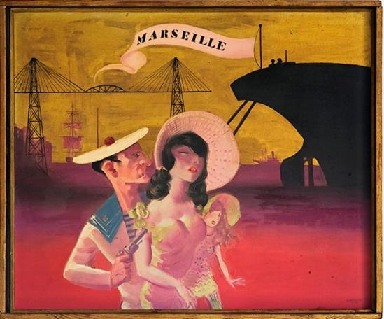 Hans Bellmer. Marseille 1932. Huile sur paneau