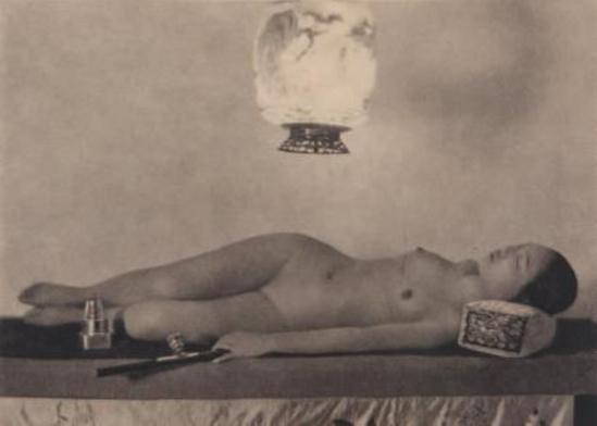 Heinz Von Perckhammer . Nu opiomane, aux vases, au miroir, 1928 Via drouot
