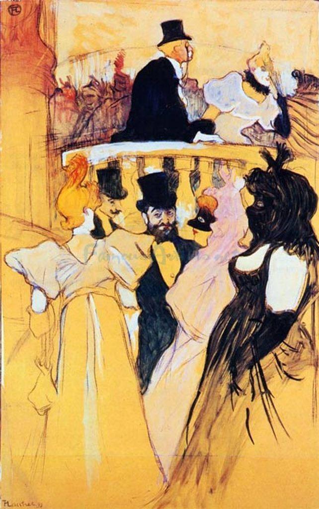 Henri de Toulouse-Lautrec. Au bal de l'opéra 1893