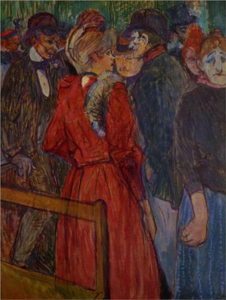Henri de Toulouse-Lautrec. Au Moulin de la Galette 1891jpg