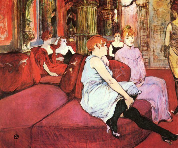 Henri de Toulouse-Lautrec. Au salon de la rue des Moulins 1894