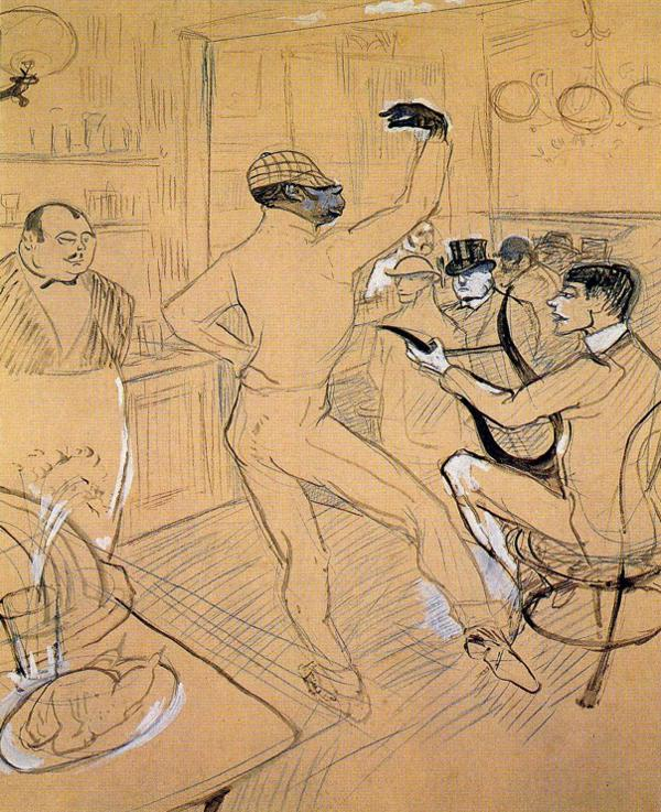 Henri de Toulouse-Lautrec. Chocolate Dancing at Achille's Bar 1896