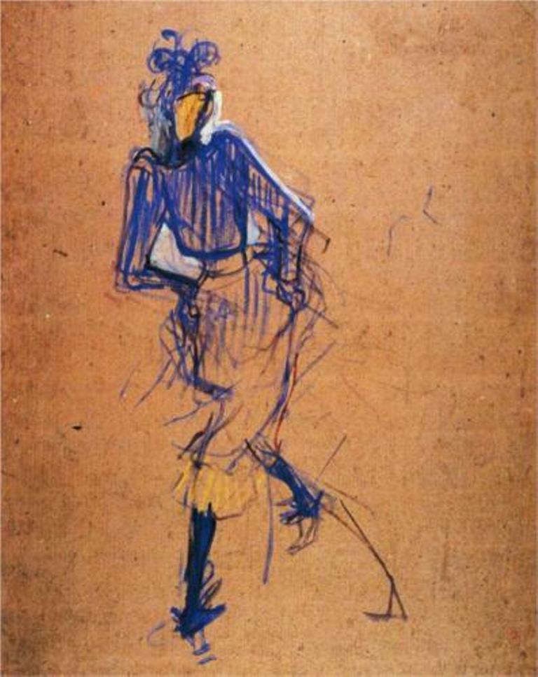 Henri de Toulouse-Lautrec. Jane Avril dancing 1891