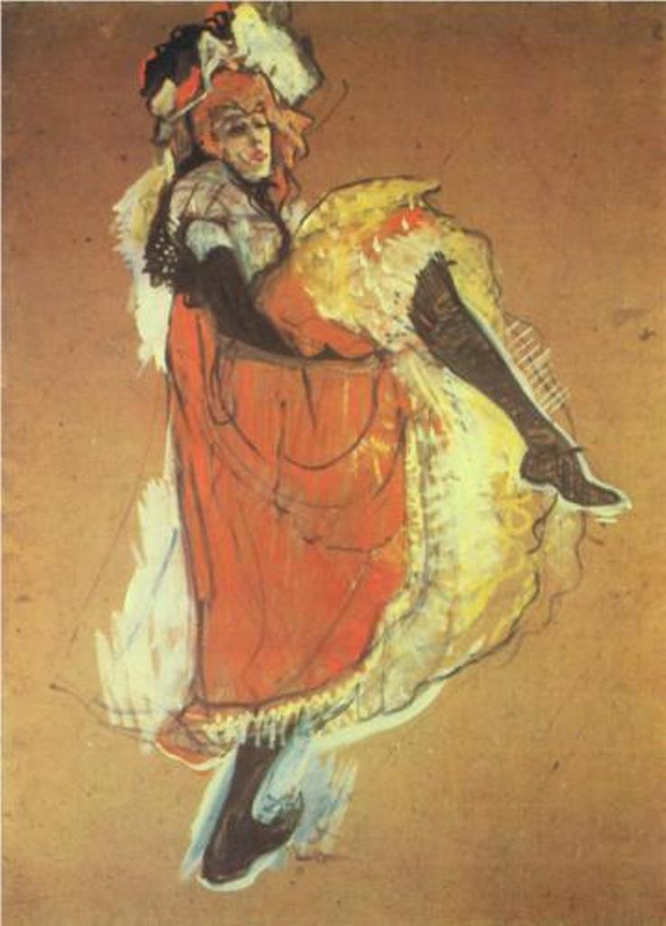 Henri de Toulouse-Lautrec. Jane Avril dancing 1893