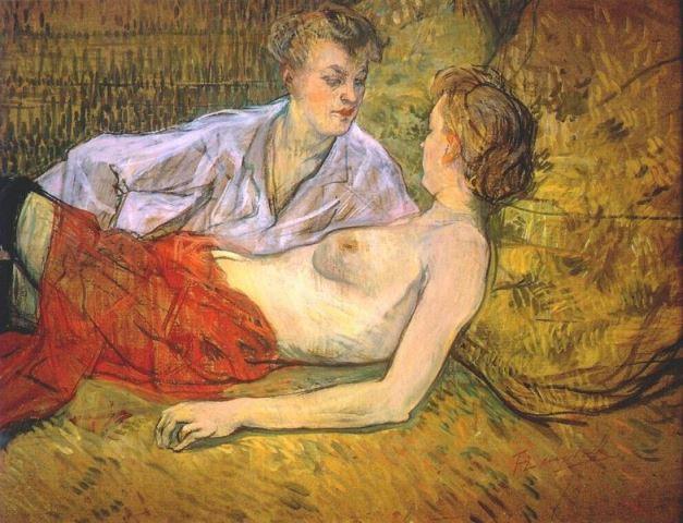 Henri de Toulouse-Lautrec. Les deux amies 1894-1895