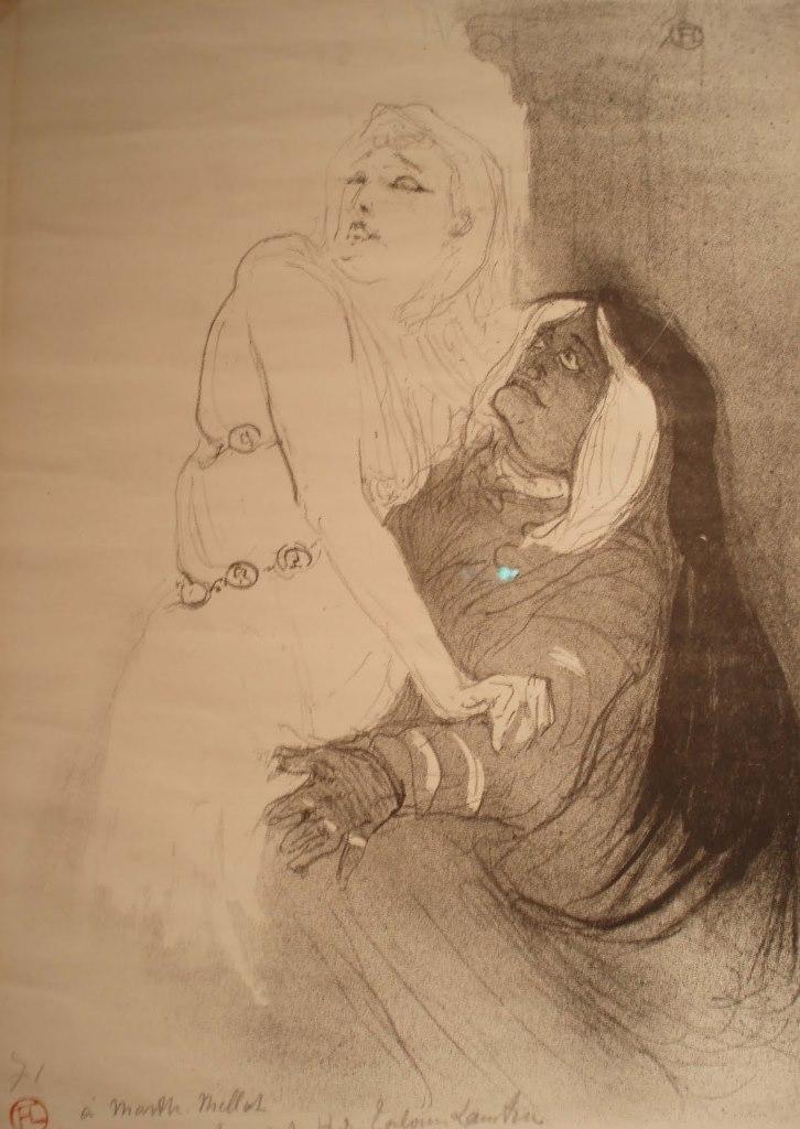 Henri de Toulouse Lautrec, Portrait of Sarah Bernhardt in Phèdre 1893