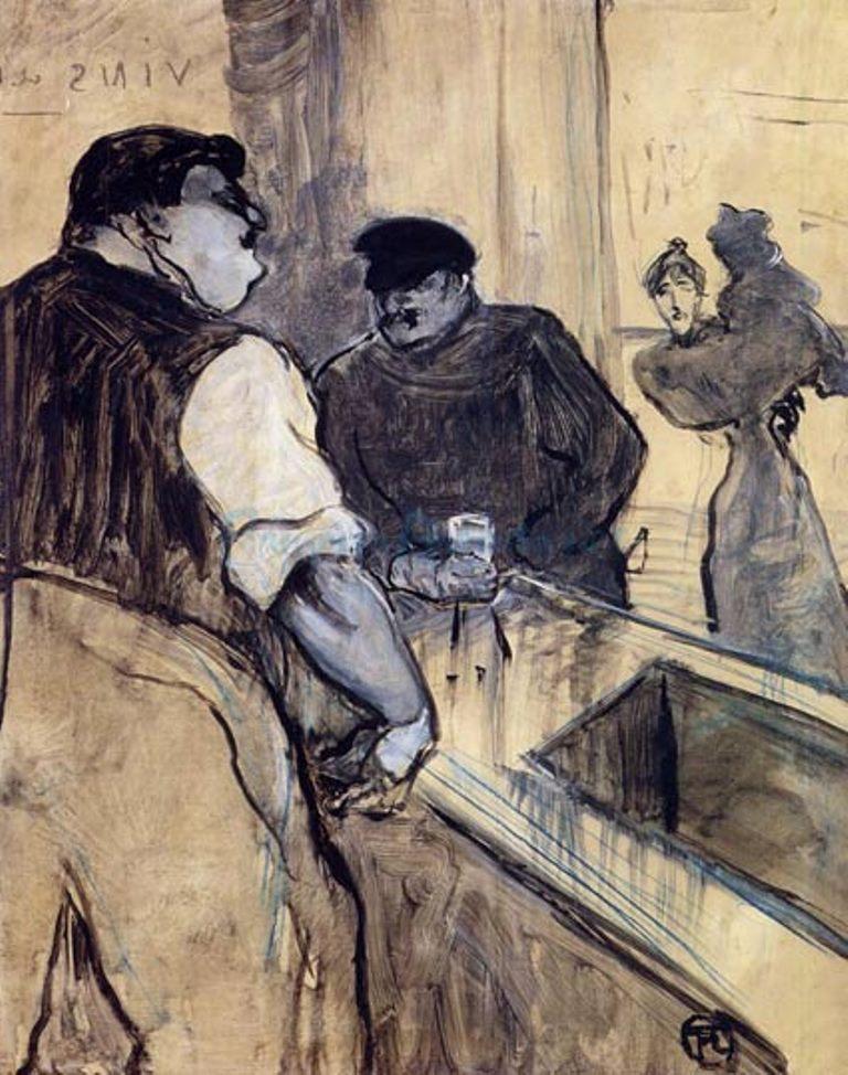 Henri de Toulouse-Lautrec.The bartender