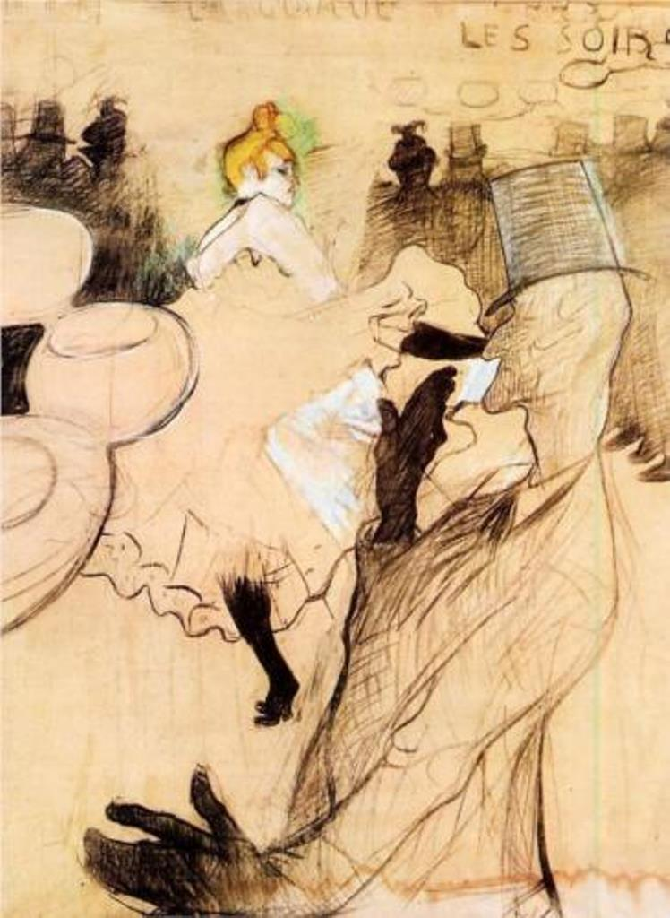 Henri de Toulouse-Lautrec. The Goulue and Valentin, the boneless one 1891