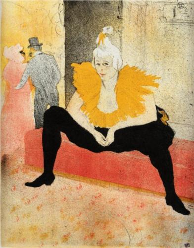 Henri de Toulouse-Lautrec. They Cha U Kao, chinese Clown, seated 1896