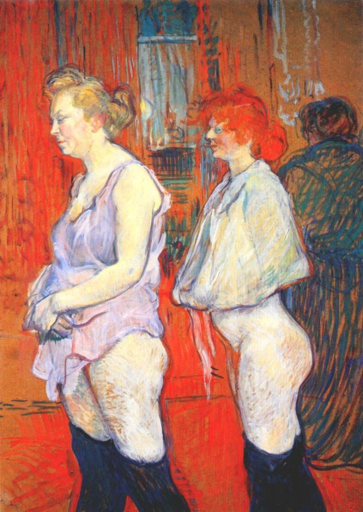 Henri de Toulouse Lautrec_rue_des_moulins, the medical inspection 1894