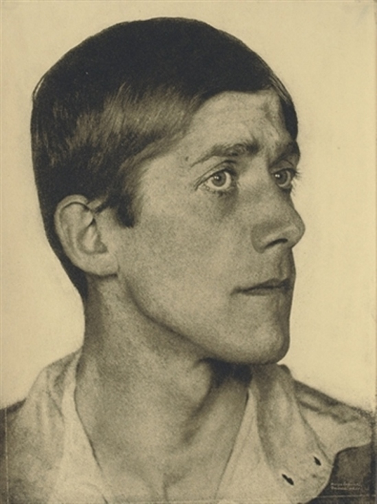 HUGO ERFURTH. Oskar Kokoschka 1920. Via christies