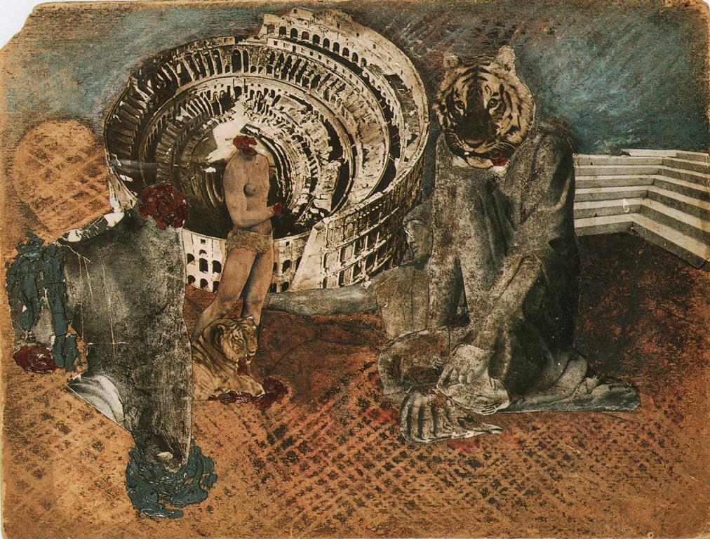 Jean Cocteau. Orphée aux bêtes 1926. Carton peint avec collage. Scan personnel du catalogue Exposition Cocteau, Centre Pompidou