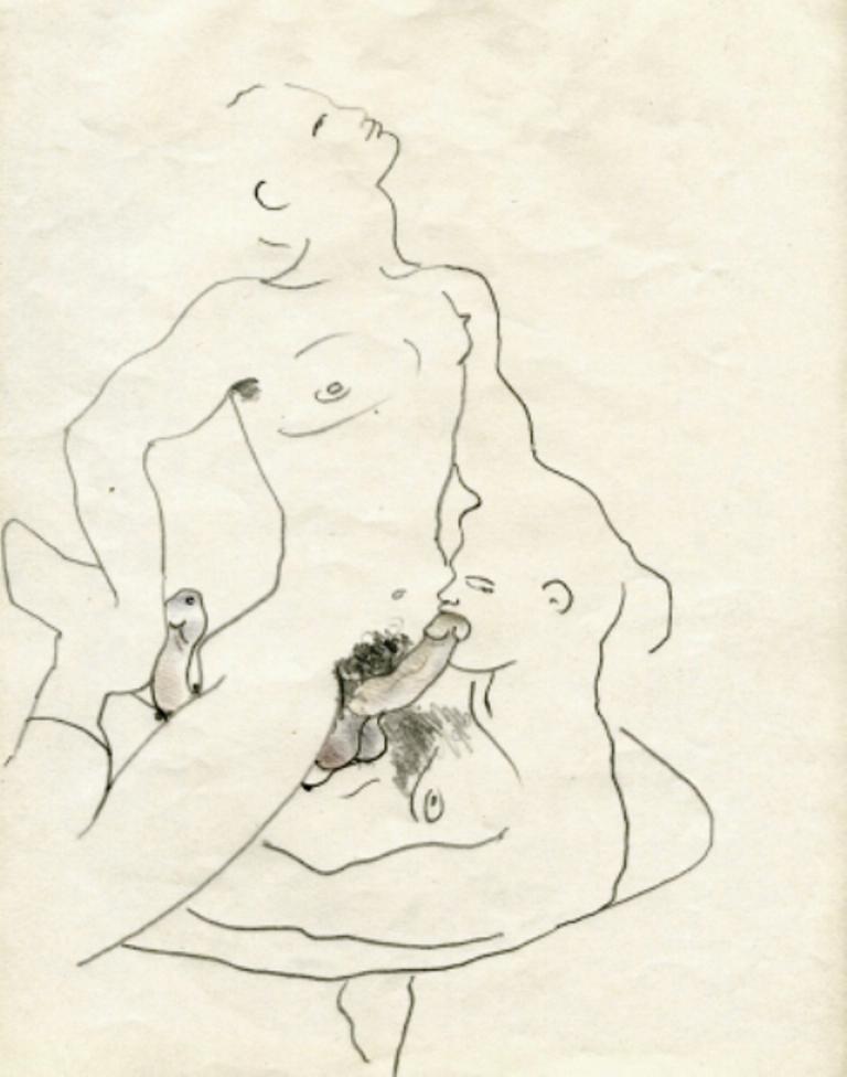 Jean Cocteau. Querelle de Brest 1947. Via amorosart