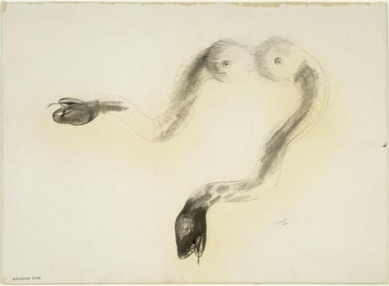 Jindrich Styrsky . Rêve de serpent 1940 Via RMN