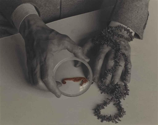 Josef Breitenbach. The Hands of Max Ernst 1942. Via mutualart