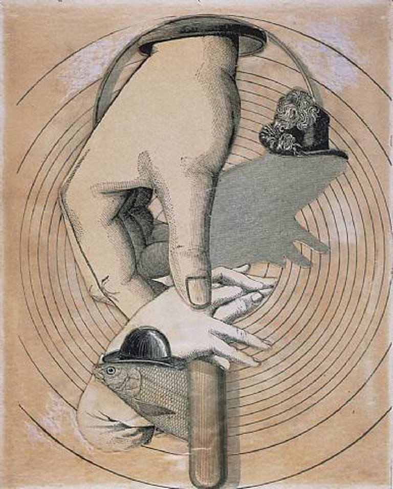 Joseph Cornell. Untitled (Fish and Hands) 1933 Via artnet