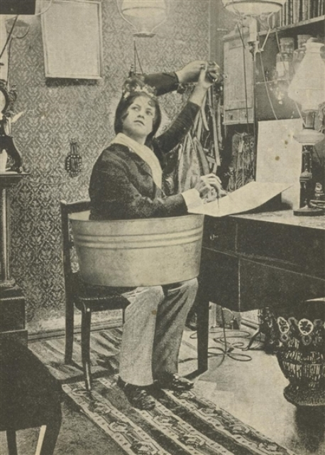 Joseph Cornell. Woman in tube. Collage