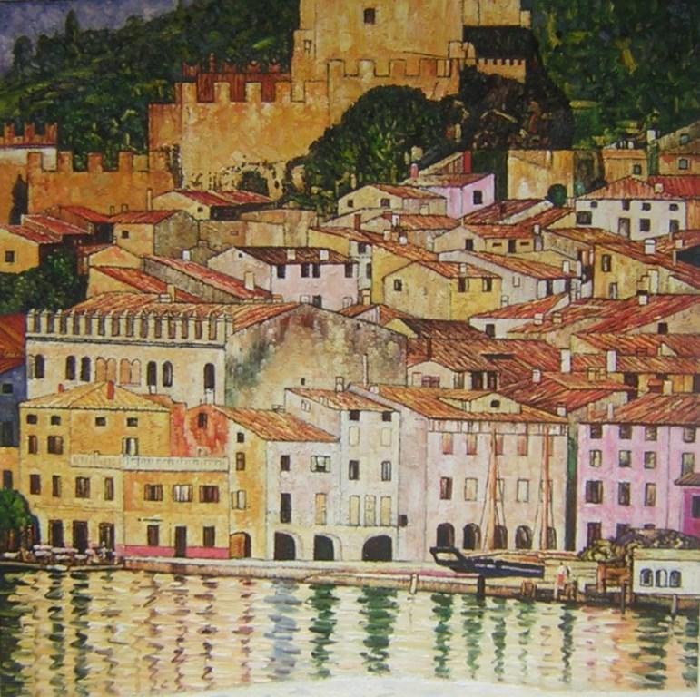 Klimt. Malcesine on lake Garda 1913