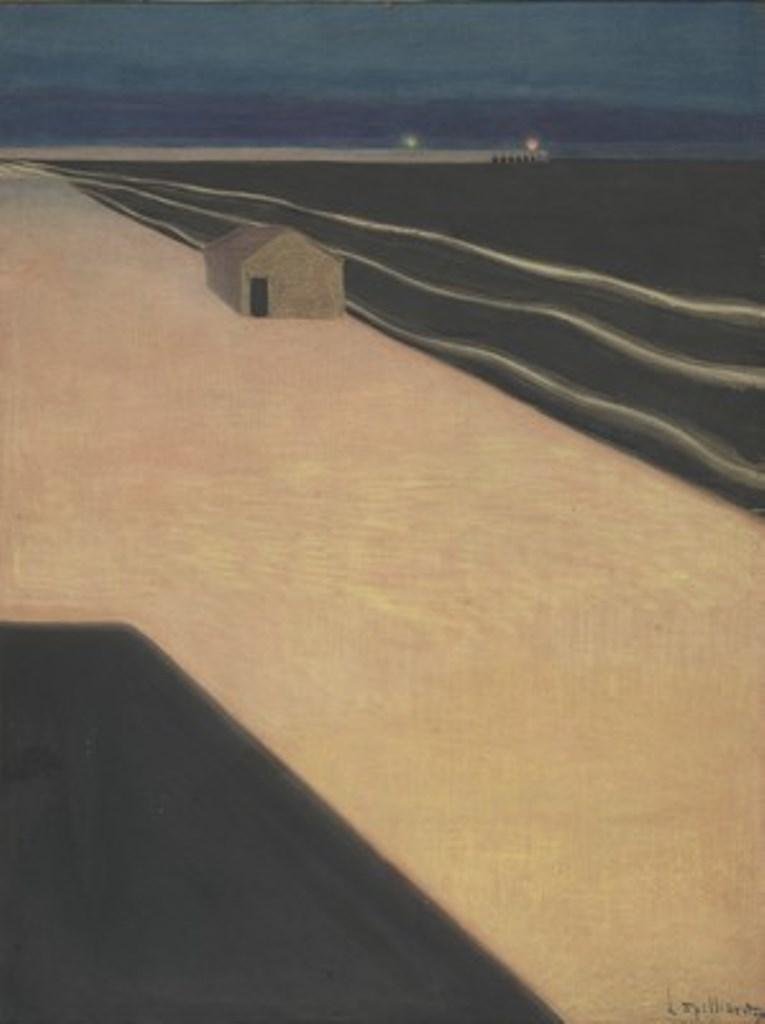 Léon Spilliaert 1909. Encre, aquarelle et pastel sur carton