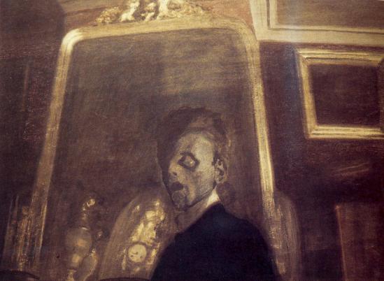 Léon Spilliaert. Autoportrait au miroir 1908