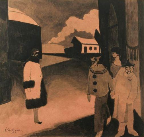 Léon Spilliaert. Carnaval 1926. Encre sur papier