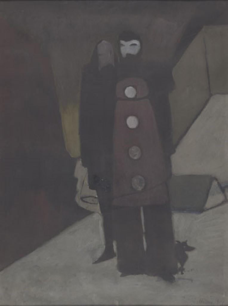 Léon Spilliaert. Carnaval 1927. Gouache et pastel sur papier