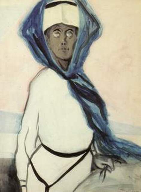 Léon Spilliaert. Dame au châle bleu 1909.jpg