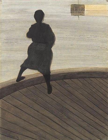 Léon Spilliaert.Femme de pêcheur sur le pont 1909