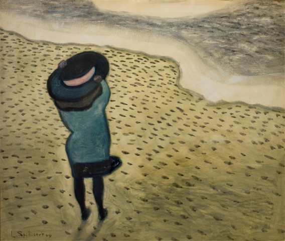 Léon Spilliaert. Fillette au grand chapeau 1909
