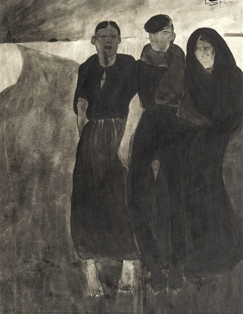 Léon Spilliaert. Fisher men and women 1902