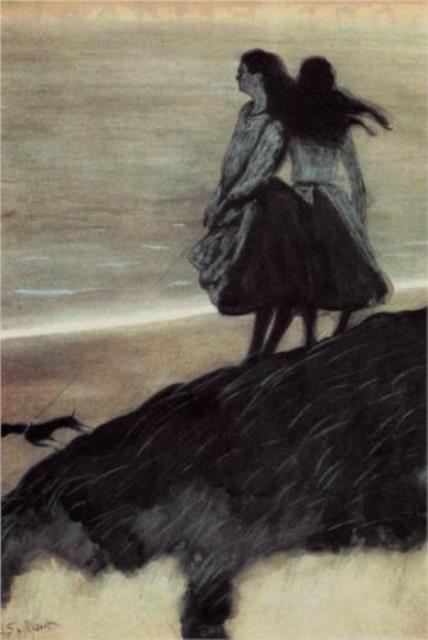 Léon Spilliaert. Girls on a dune 1913