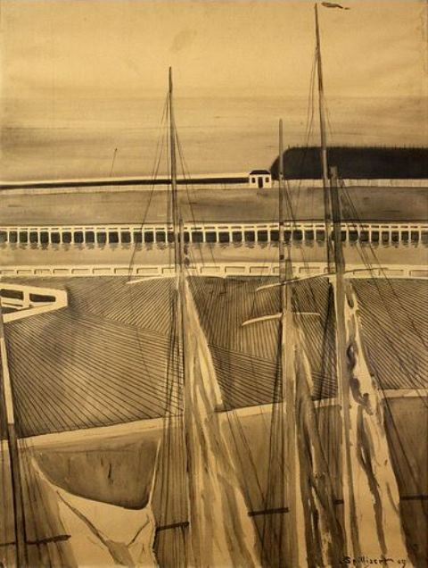 Léon Spilliaert. Harbour of Ostende 1909