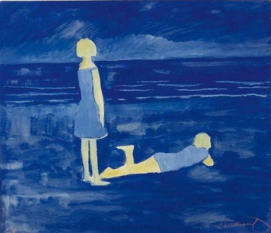 Léon Spilliaert. Jeunes femmes à la plage 1924