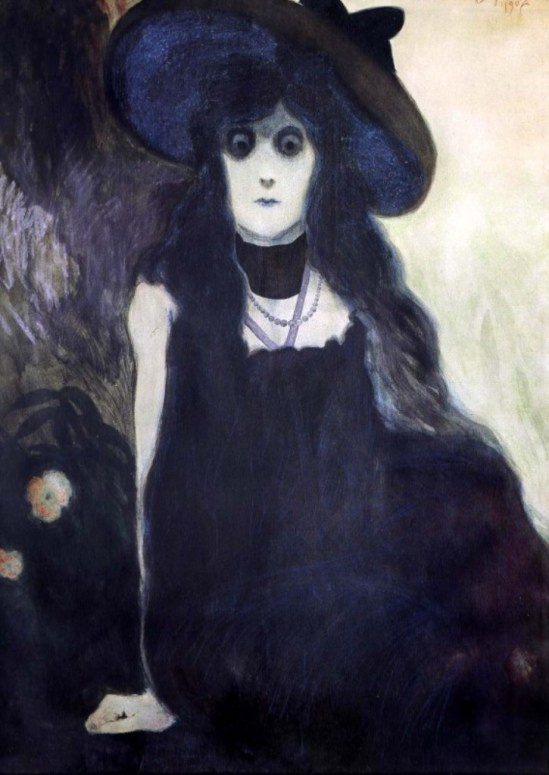 Léon Spilliaert. La Buveuse d'Absinthe 1907
