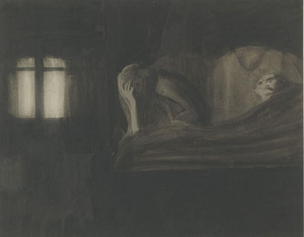 Léon spilliaert. Le couple 1902. Encre sur papier