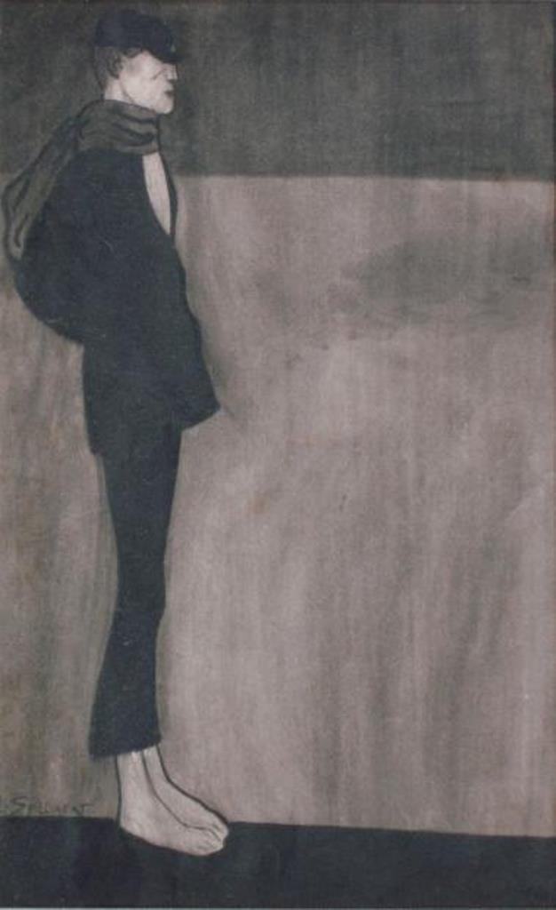 Léon Spilliaert.Le jeune garçon, le Greluchon, M. Alphonse. Plume et lavis d'encre de Chine