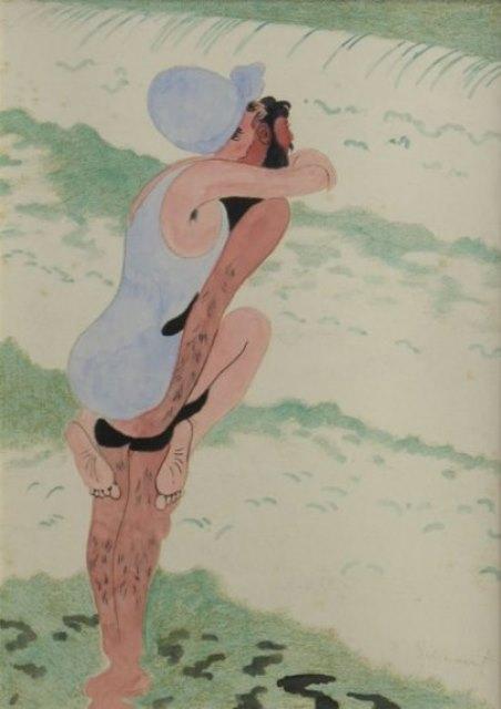 Léon Spilliaert. Les baigneurs 1917
