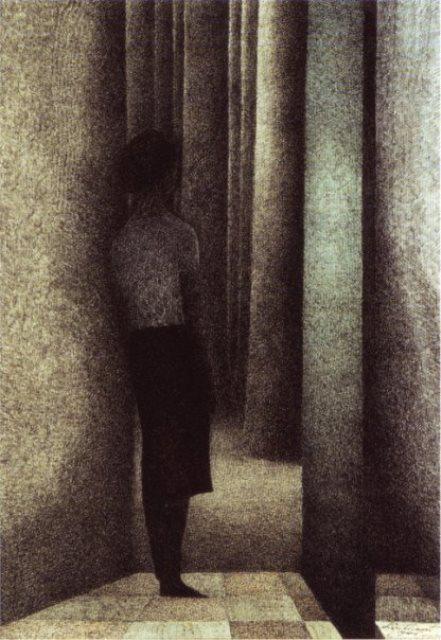 Léon Spilliaert. The open door 1945