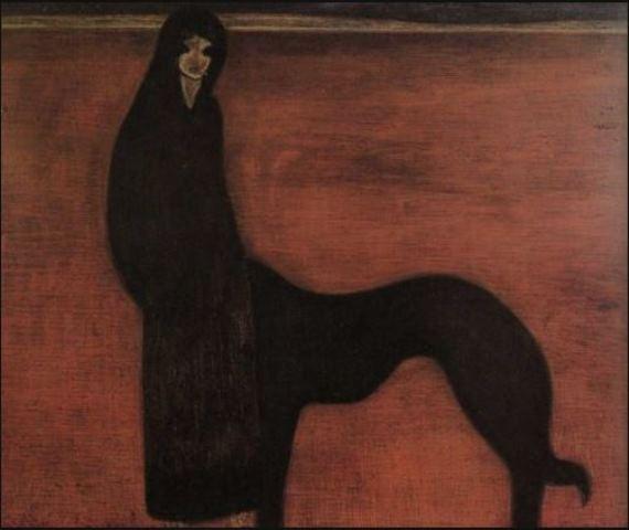 Léon Spilliaert. Young woman and dog 1913