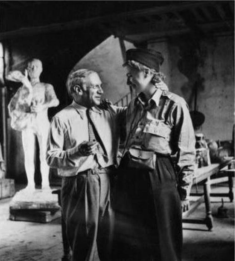 Lee Miller et Pablo Picasso, libération de Paris 1944 Via connaissancesdesarts