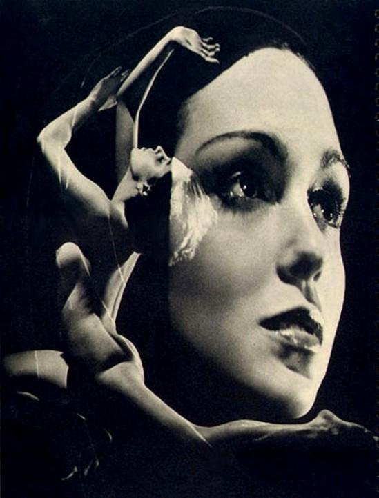 Lejaren à Hiller. Nude, double exposure 1930. Via finanzaonline