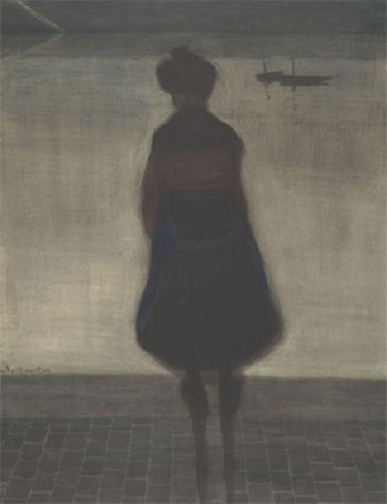 Leon Spilliaert. Femme de Pécheur face au bassin